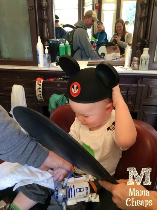 Landon Mickey Ears First Haircut