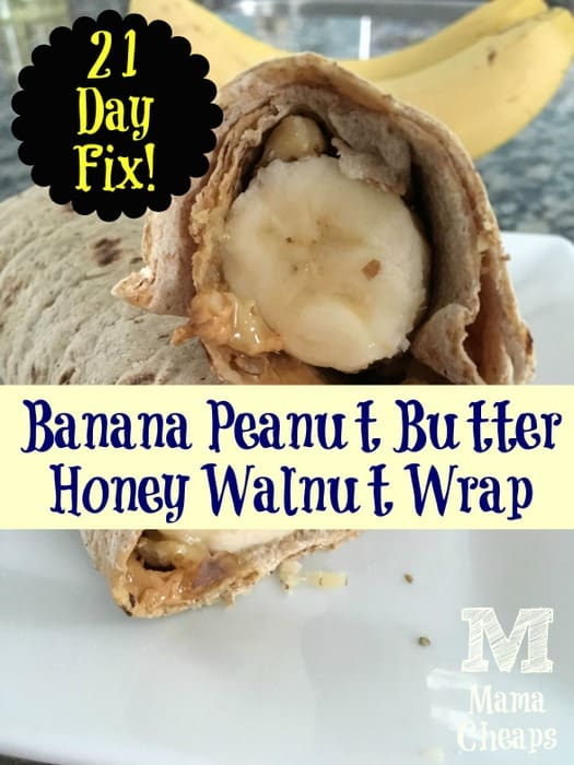 21 Day Fix Breakfast Banana Wrap