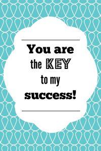 Key to My Success Teacher Printable