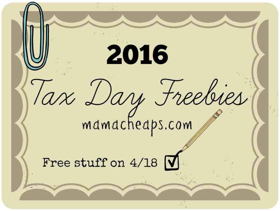 tax day freebies 2016