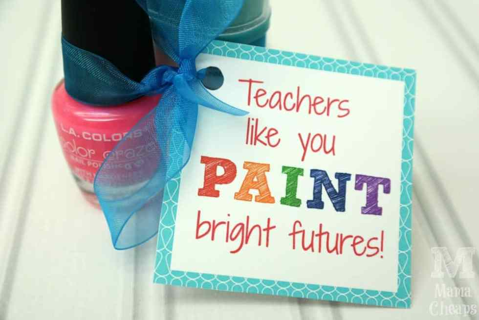 Teacher Nail Polish Gift Idea