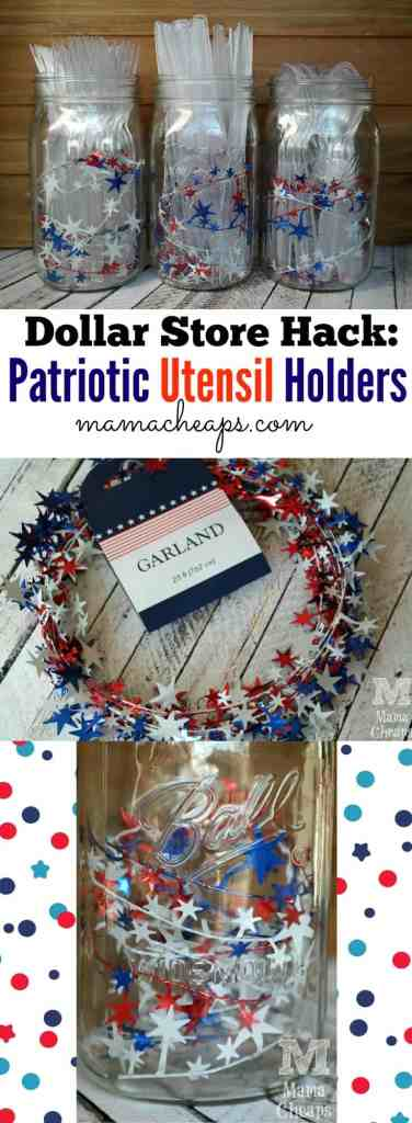 Dollar Store Hack Patriotic Mason Jars