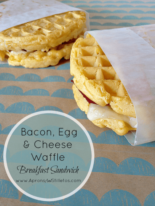 Aunt Jemima Bacon, Egg & Cheese Waffle Breakfast Sandwich 4