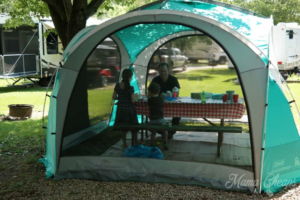 Coleman Screened Shelter Tent & Coleman Mountain View 12x12 Screendome Shelter Review | Mama Cheaps