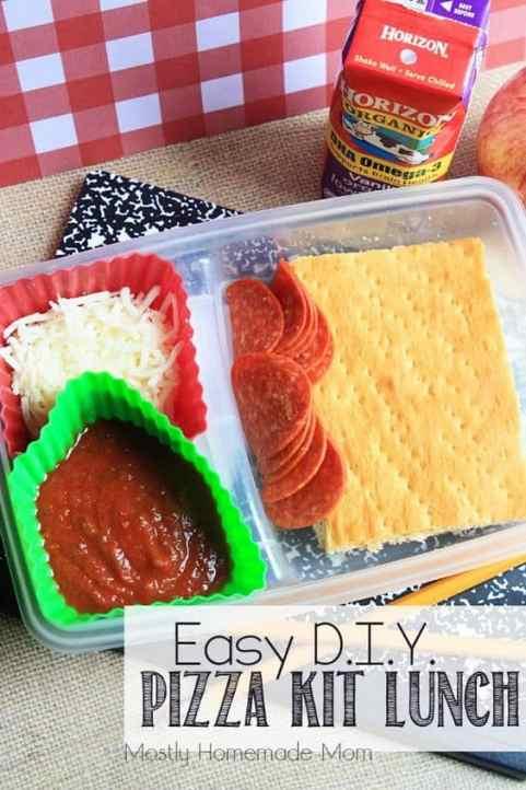 DIY Pizza Kit Lunch