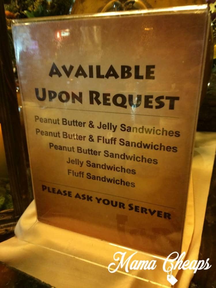 Rocking Horse Ranch Sandwich Request