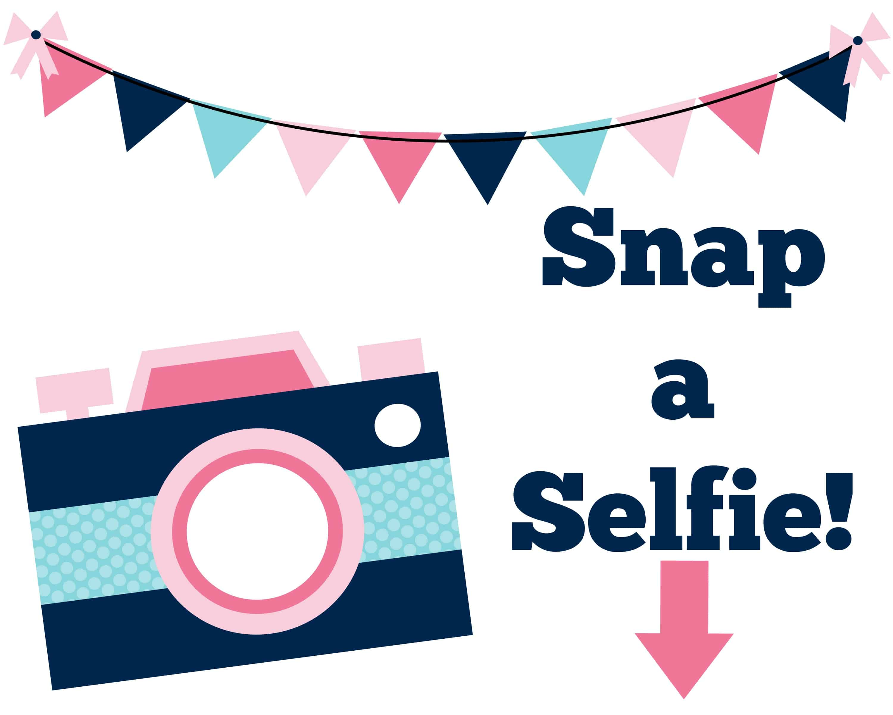 This is a picture of Soft Selfie Station Sign Free Printable