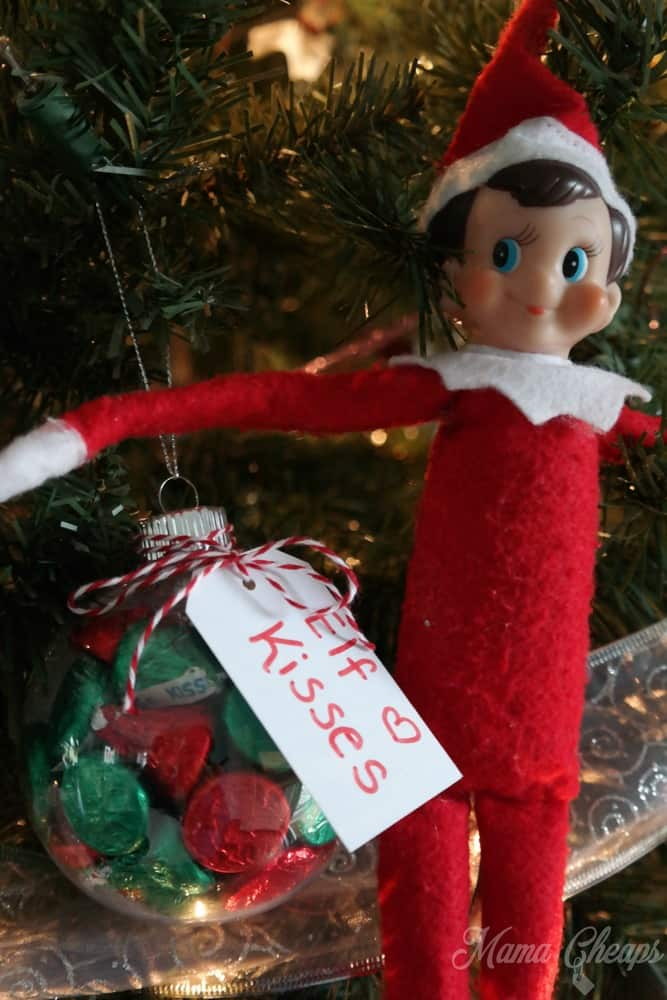 Elf on the Shelf with Hershey Kisses