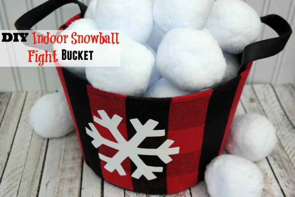 DIY Indoor Snowball Fight Bucket