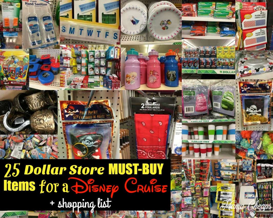 25 dollar store must buy items for a disney cruise mama for Dollar store items online