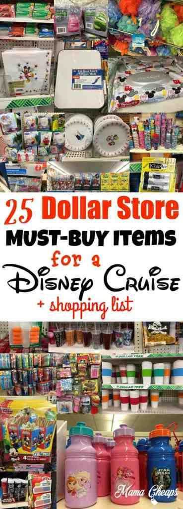 Dollar Store Disney Cruise Must Buys