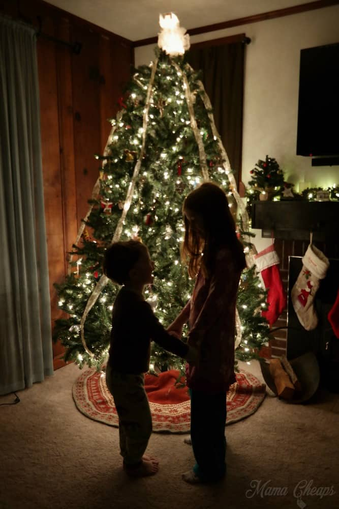 Kids in Front of Tree