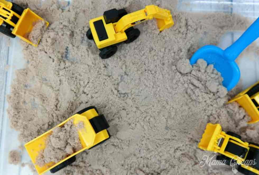CAT Toys in Sandbox