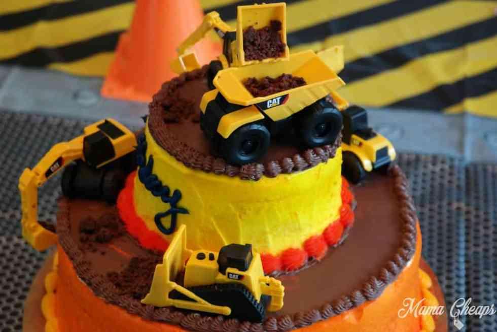 DIY Construction Vehicle Cake