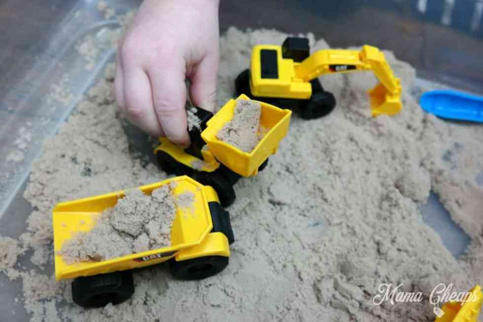 Digging with Sand Toys