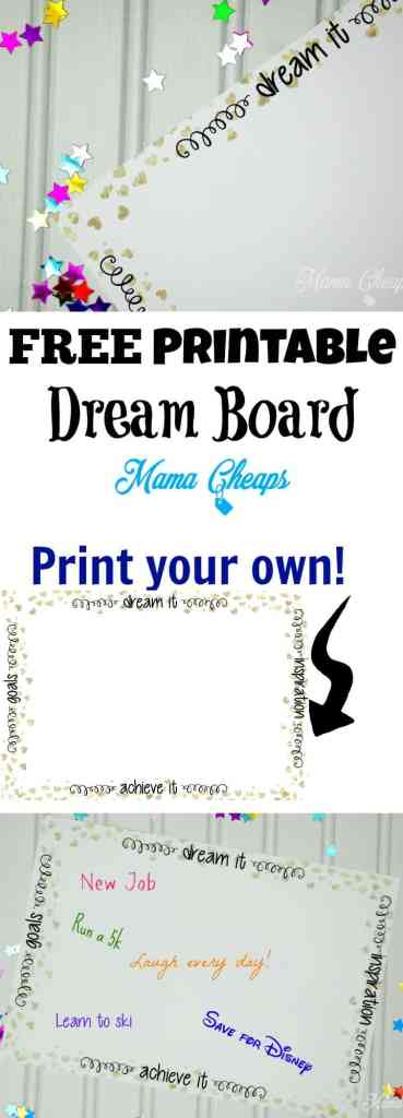 Free Printable DIY Dream Board