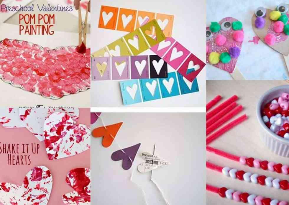 Valentines Day Preschool Crafts Set C