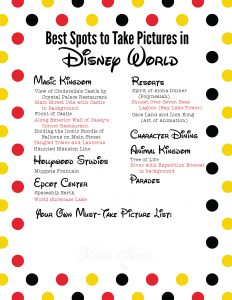 Best Spots to Take Pictures in Disney World