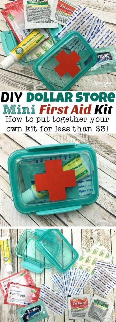 DIY Dollar Store Mini First Aid Kit