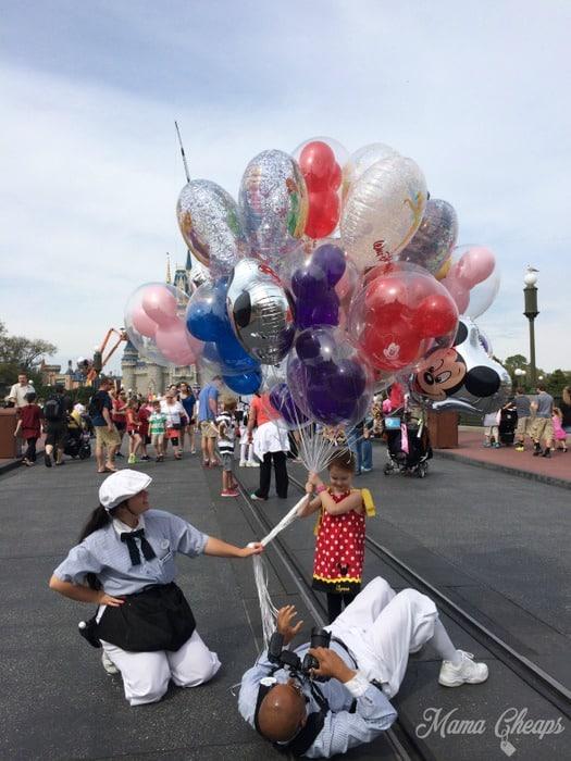 Lily with Balloons Disney World