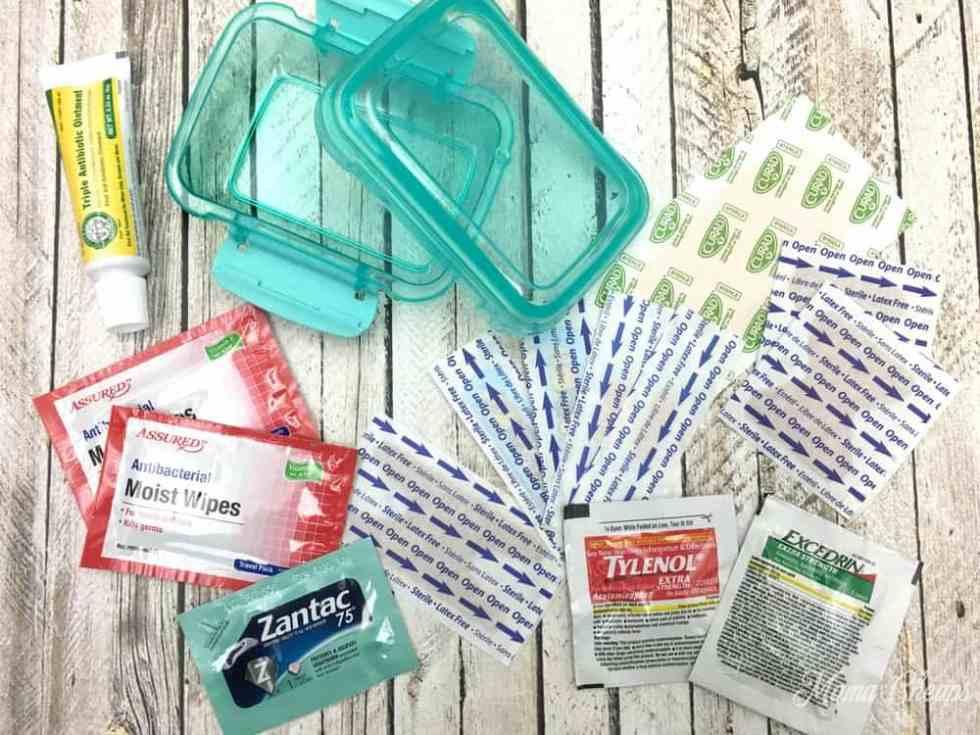 Mini First Aid Kit Supplies