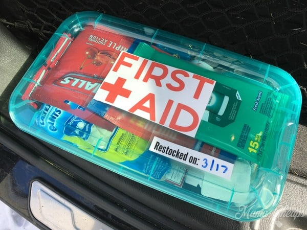 Dollar Store First Aid Kit for Car