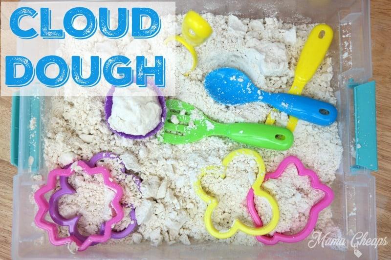 DIY Cloud Dough Sensory Play