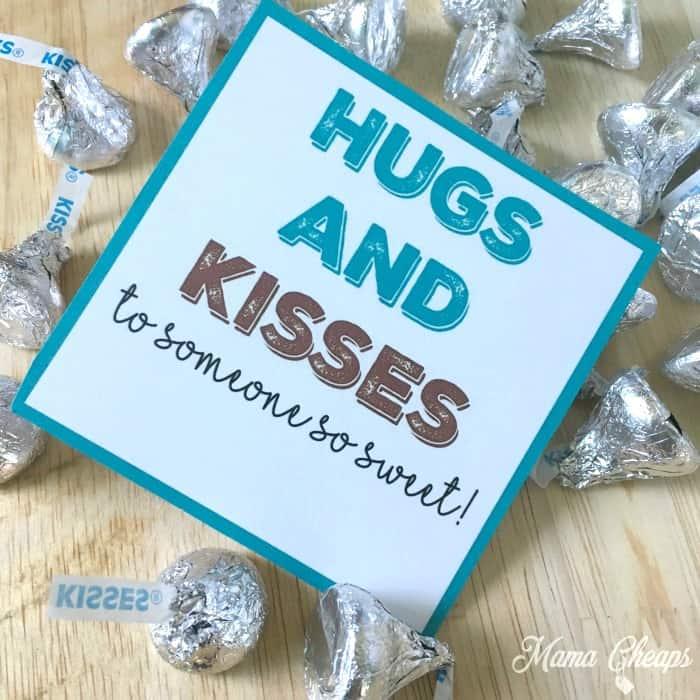 Hugs and Kisses Gift Tag