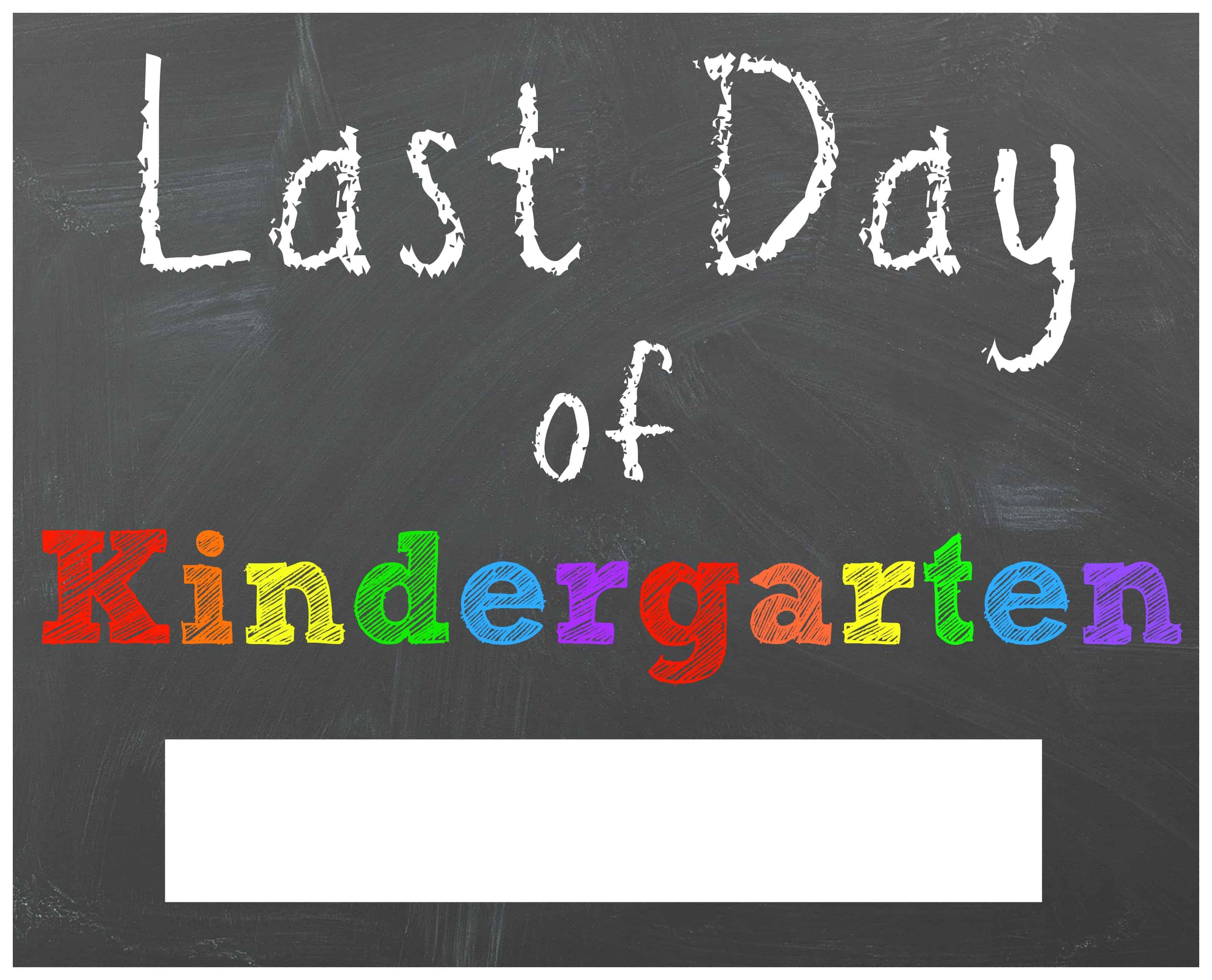 Free Last Day Of School Printable Chalkboard Signs
