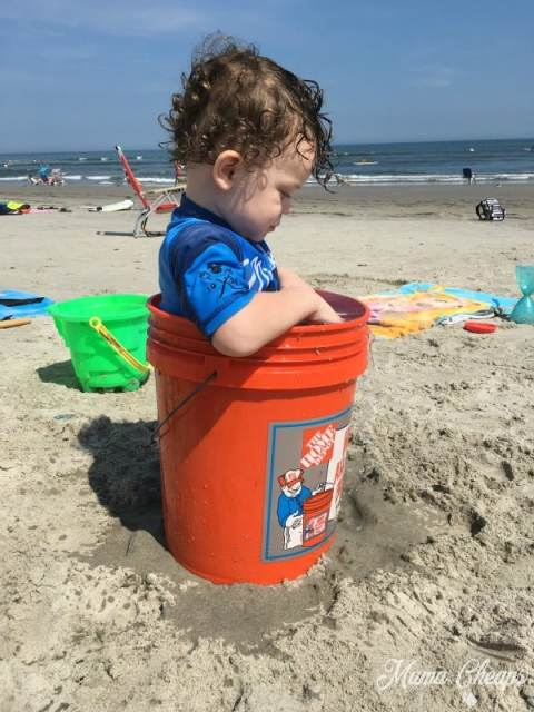 Landon in Home Depot Bucket