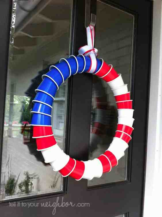 solo cup wreath