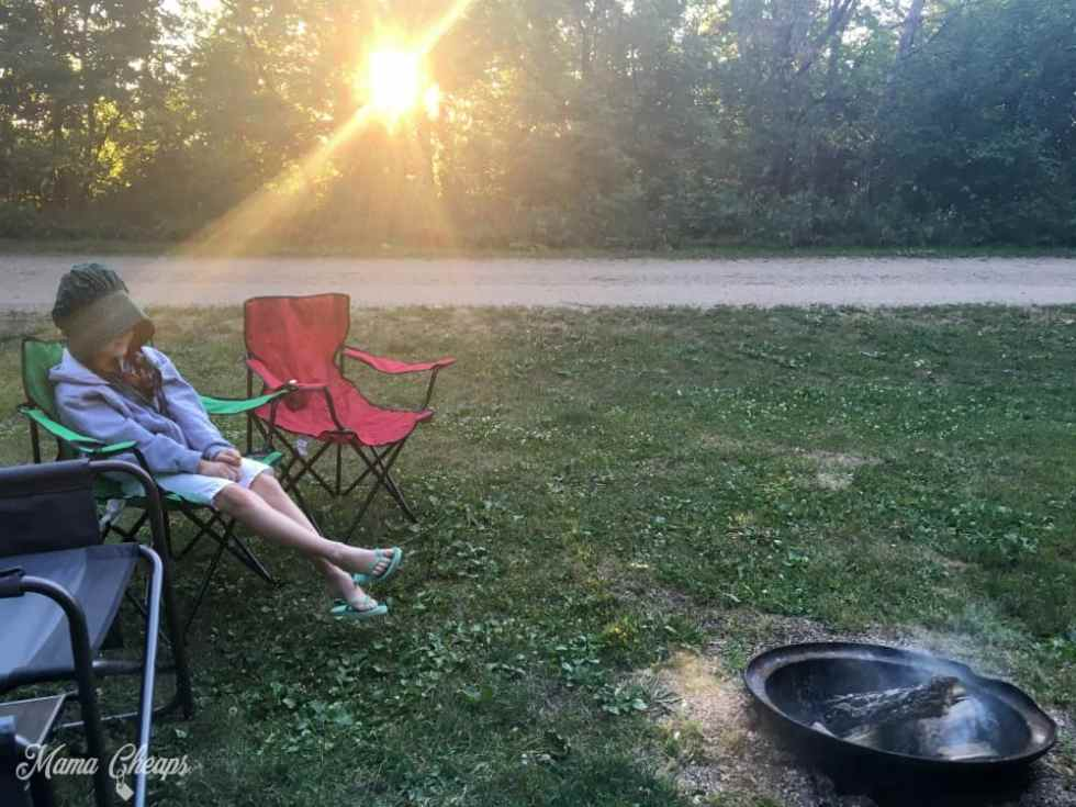Lily at Campground