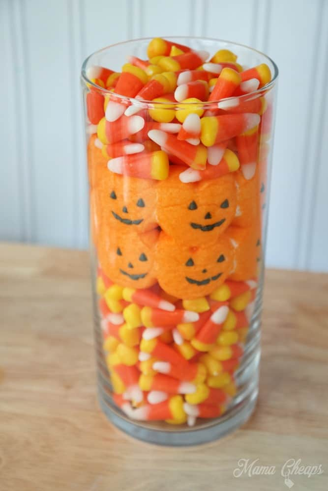 Halloween candy centerpiece ideas corn and peeps
