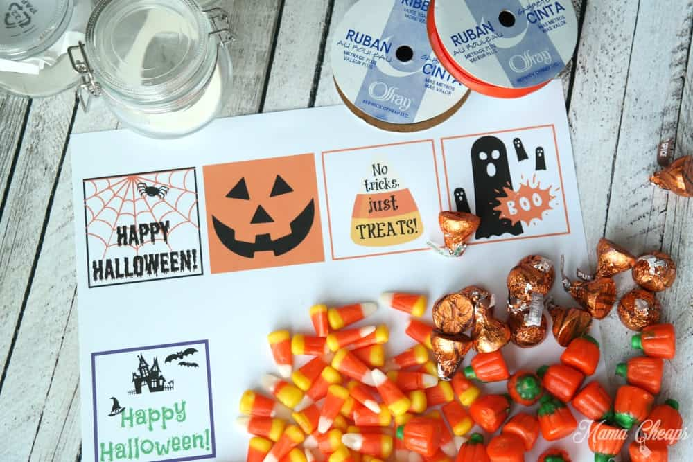 Free printable halloween gift tags for candy treats mama cheaps printable halloween gift tags negle Image collections