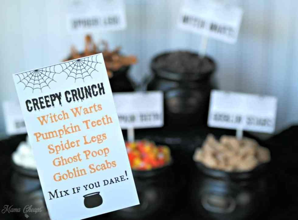 Creepy Crunch Halloween Snack Mix