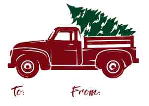 Red Truck Gift Tag