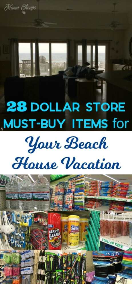 28 Dollar Store Must-Buy Items for Your Beach House Vacation
