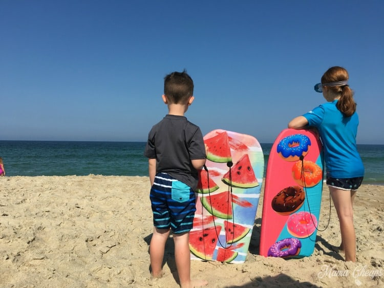 Boogie Boards at Beach