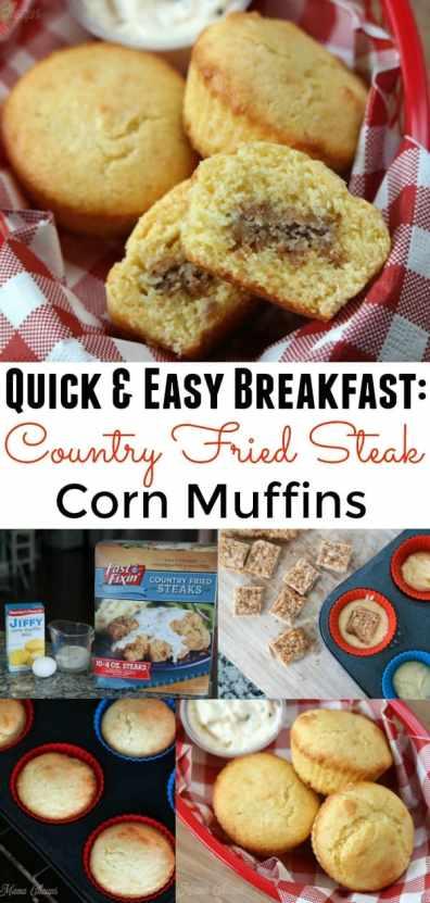 Country Fried Steak Corn Muffins Recipe