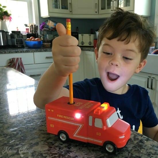 Amazeko Fire Truck Pencil Sharpener
