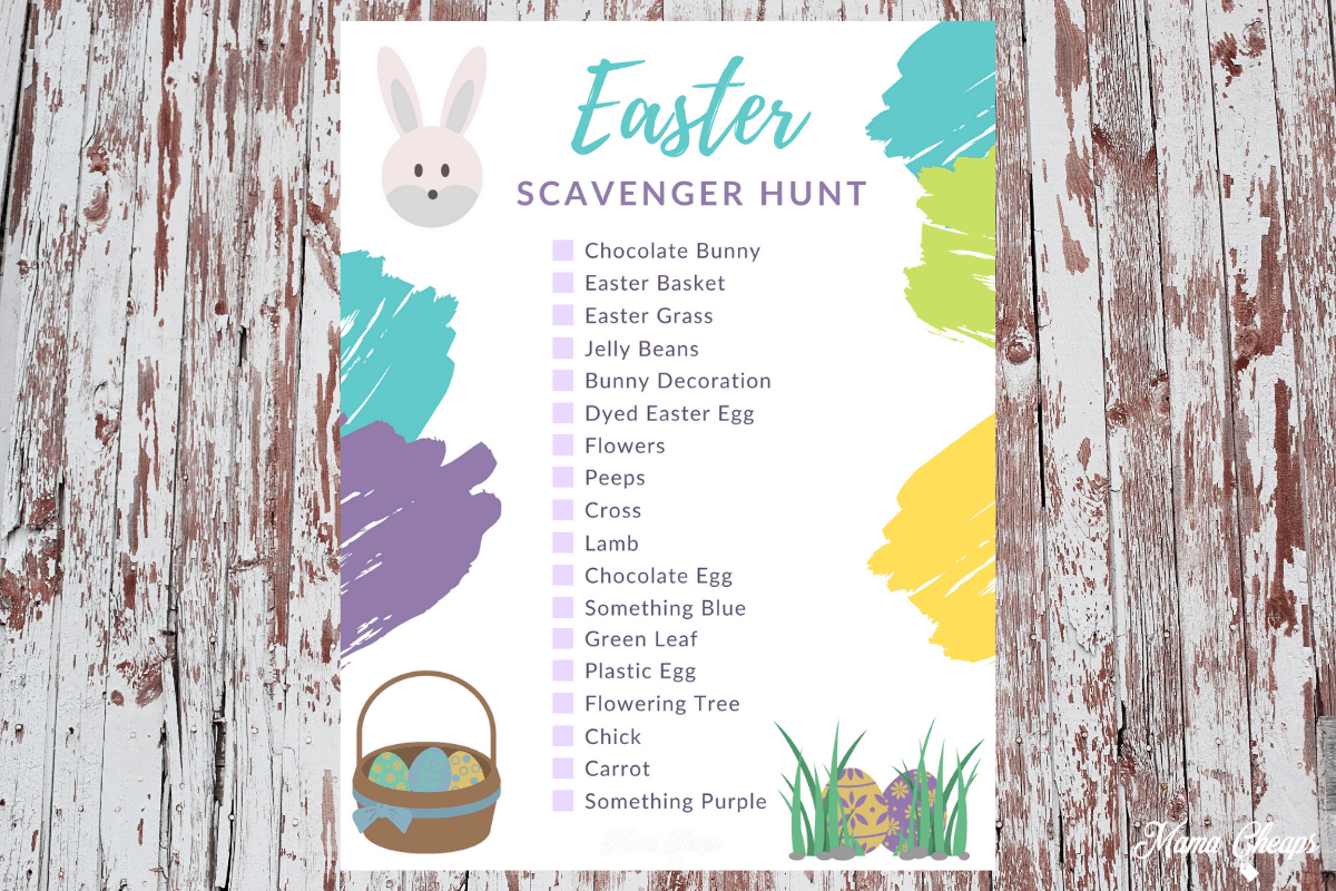 Printable Easter Scavenger Hunt For Kids