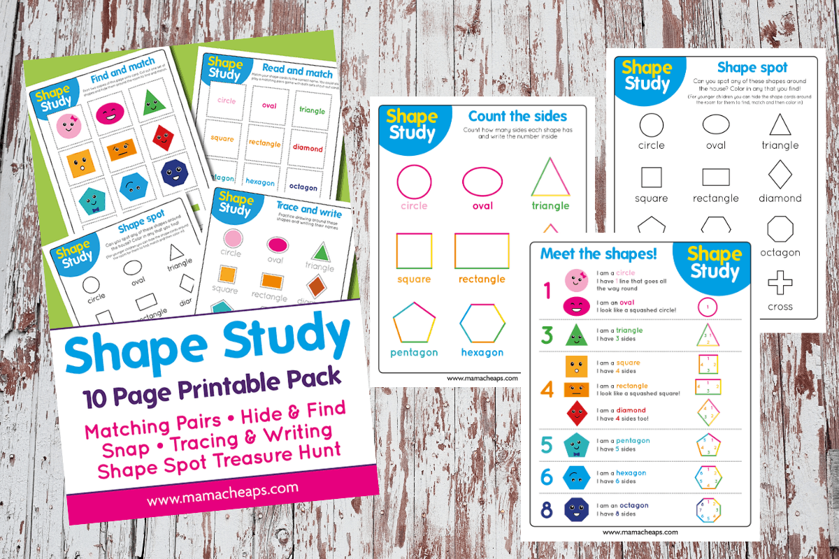 Preschool Shape Study Worksheets