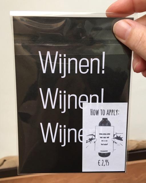 Kaart en Wijnetiket voor de retail wholesale