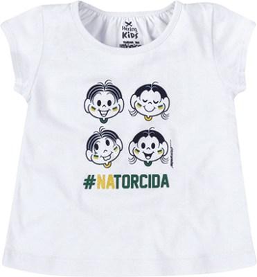 Blusa Bebê Menina Manga Curta Turma da Mônica e Hering Kids - R$34,99