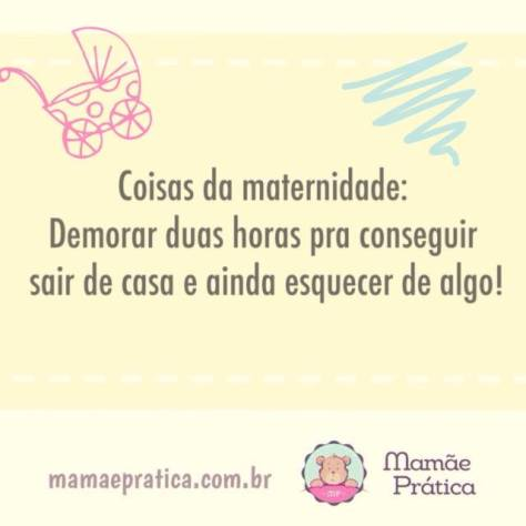 Frase sobre ter bebê do blog Mamãe Prática