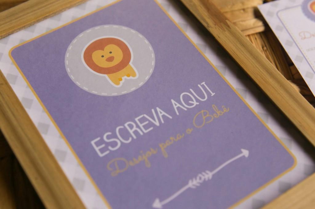 Cartão de desejos menino - chá de bebê