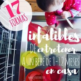 17 formas infalibles de entretener a un bebé de 8-12 meses en casa
