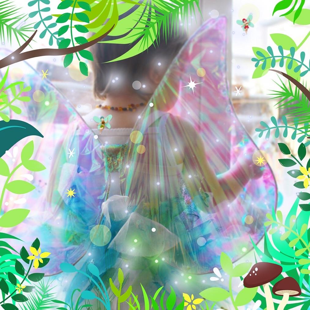 Hada del bosque forest fairy mama extraterrestre DIY disfraz low-cost alas tutú varita mágica baby wings tutorial
