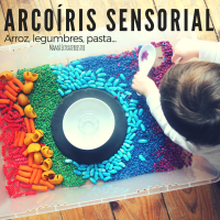 Arroz, legumbres, pasta... Arcoíris sensorial!