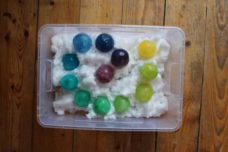 mama extraterrestre juegos de agua hielos colores nieve